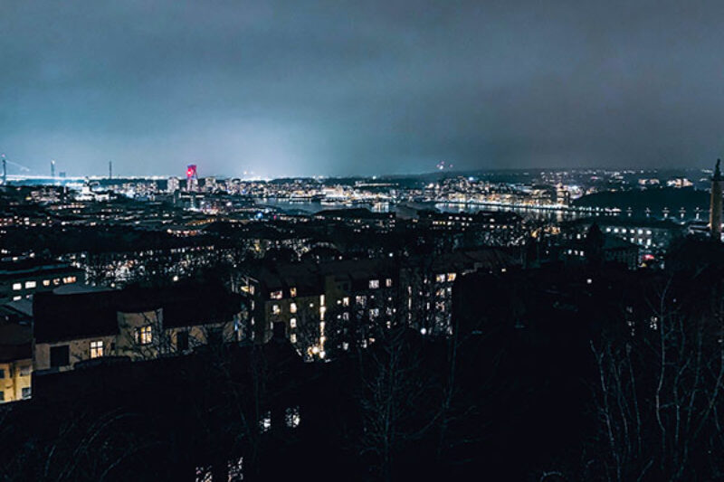 Ein nächtlicher Blick über Göteborg
