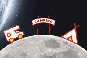 Camping auf dem Mond
