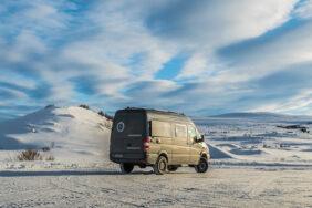 Mit dem Wohnmobil durch das Winterwunderland in Skandinavien