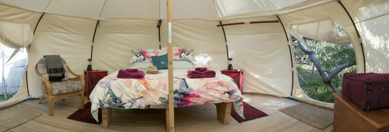Glampingzelt auf dem Campingplatz