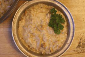 PiNCAMP kocht: Risotto mit Gorgonzola, Birne & Walnüssen