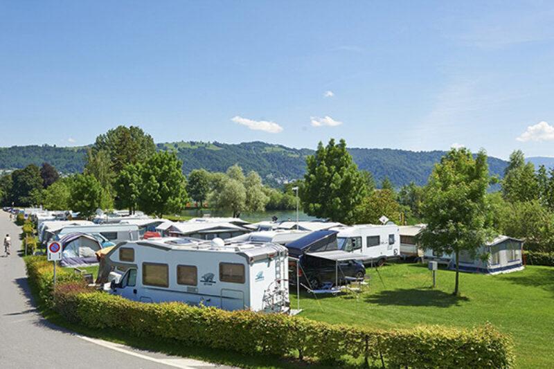 TCS Camping Zugersee Wohnwagenstellplatz