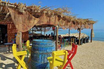 Strandbar vom Campingplatz auf der Insel Pag