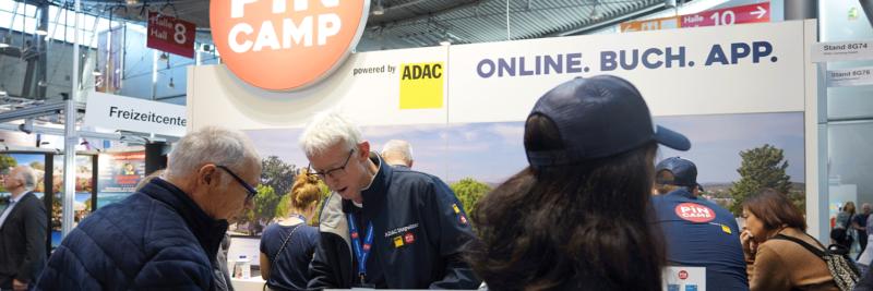 Der ADAC Messestand auf der CMT 2020 in Stuttgart