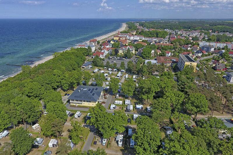 Luftaufnahme vom Campingplatz Kühlungsborn