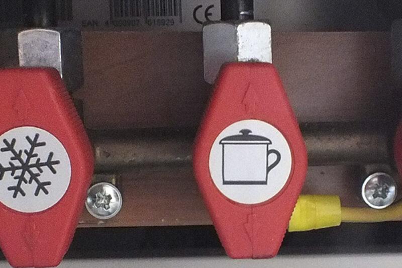 Gas Sperrhahn in einem Wohnwagen