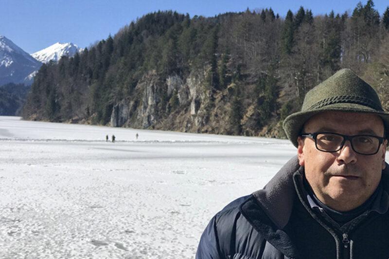 Manel Vilajosana beim Schneewandern
