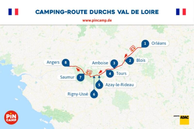 Unsere Route durchs Val de Loire