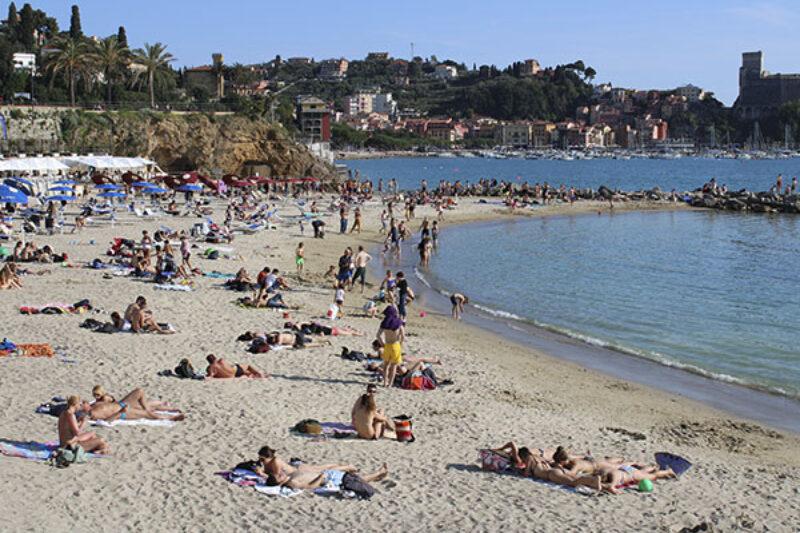 Der Strand in Lerici