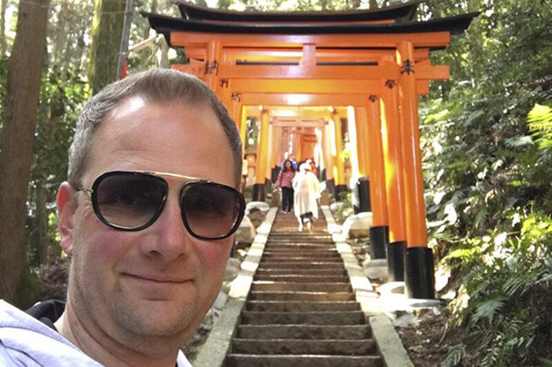 Massimo Battaglio beim Urlaub in Japan