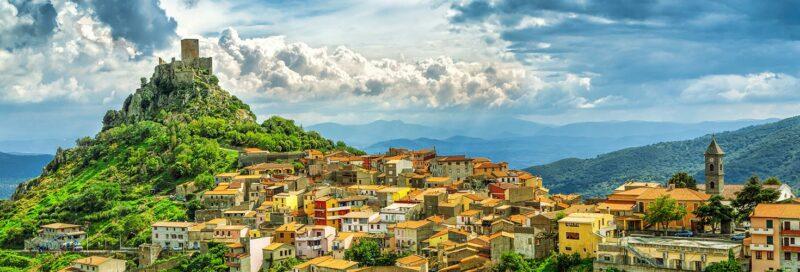 Blick über einen Teil von Sardinien