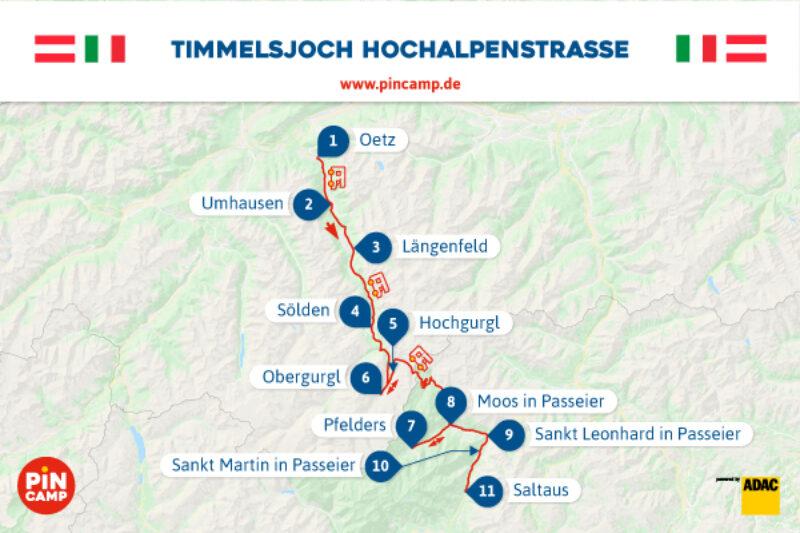 Traumhafte Route für Camper entlang der Timmelsjoch Hochalpenstraße