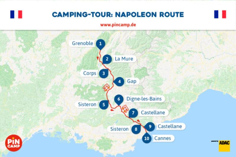 Auf der Route von Napoleon mit unserer Camping-Tour