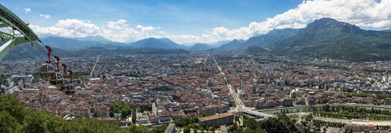 Grenoble in den Französischen Voralpen