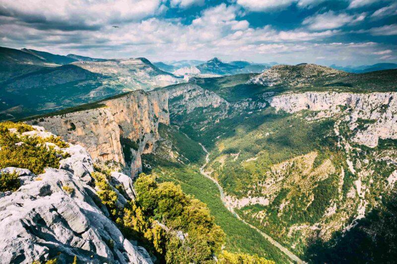 Schöne Landschaft der Gorges du Verdon in Frankreich