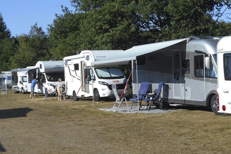 Riis Feriepark Wohnwagenstellplätze im Grünen auf dem Campingplatz