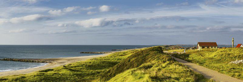 Küstenlandschaft bei Ferring Dänmark