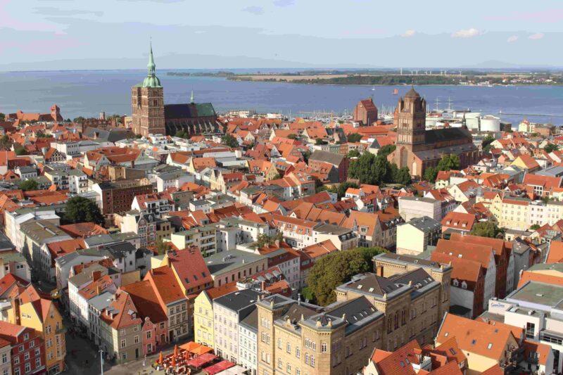 Die Altstadt von Stralsund aus der Vogelperspektive