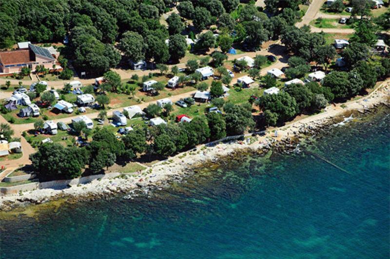 Der Campingplatz aus der Vogelperspektive