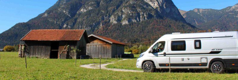 Campervan vpr Alphütte in der Zugspitzregion
