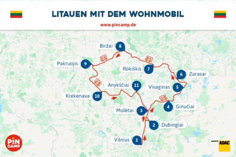 PiNCAMP Route durch Litauen