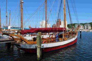 In der Museumswerft werden historische Schiffe gepflegt