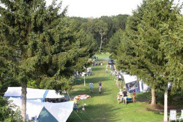 Luftaufnahme vom Campingplatz Vakantiepark de Luttenberg.