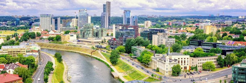 Überblick über die Stadt Vilnius