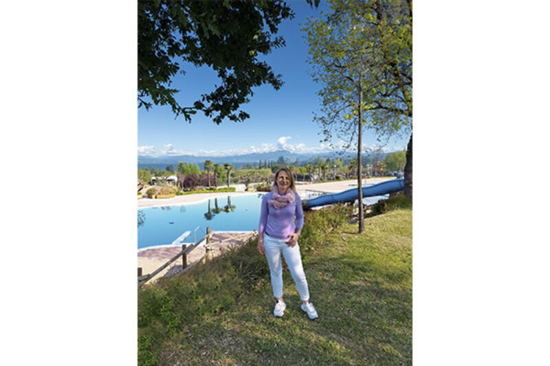 Monica Paroni ist Direktorin des Campingplatzes Piani di Clodia