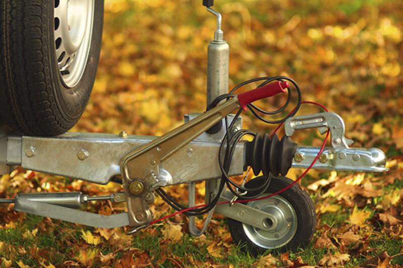 Stützrad auf Herbstlicher Wiese
