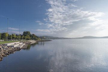 Blick über den Bostalsee