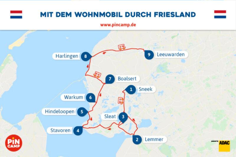 Route durch Friesland