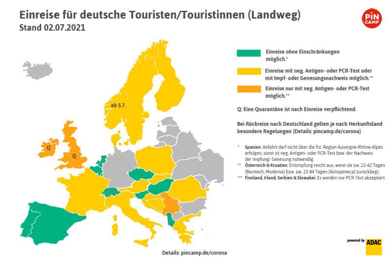 Auf einen Blick: Was benötigen deutsche Touristen bei der Einreise?