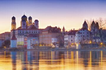 Passau bei Sonnentuntergang