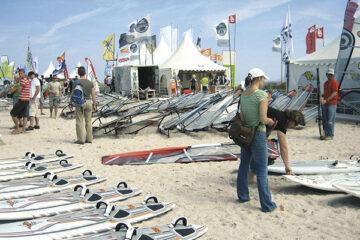 Wassersportgeräteverleih am Campingplatz