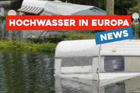 Campingplätze überflutet: Hochwasserkatastrophe in Deutschland und den Niederlanden
