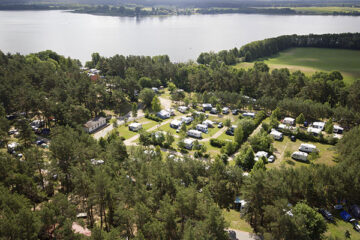Luftbild des Campingparks