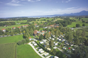 Blick auf den Campingplatz Hofbauer aus der Vogelperspektive