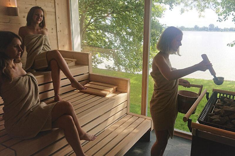 Sauna auf dem Gelände des Campingparks