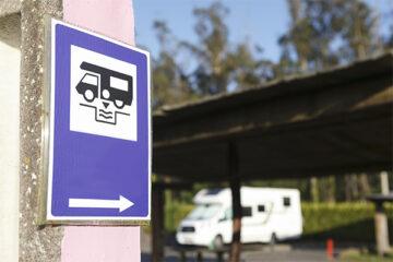 Wohnmobil-Entsorgungsstation Verkehrsschild