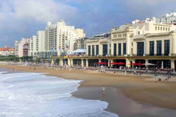Strand in der französischen Stadt Biarritz