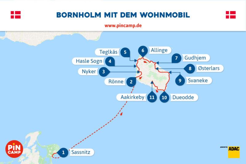 Route Bornholm mit dem Wohnmobil