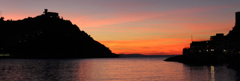 San Sebastian Sonnenuntergang