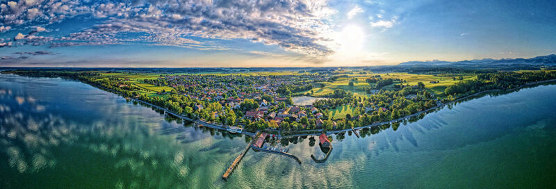 Chieming am Chiemsee in Bayern