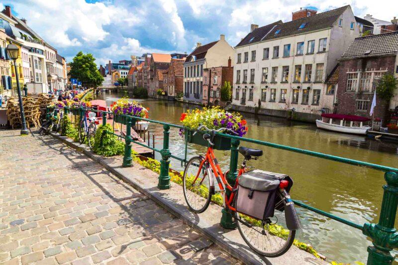 Der Kanal in Gent, Belgien