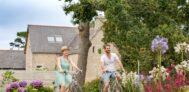 Gäste vom Campingplatz an der Fahrradtour in der Umgebung vom Campingplatz