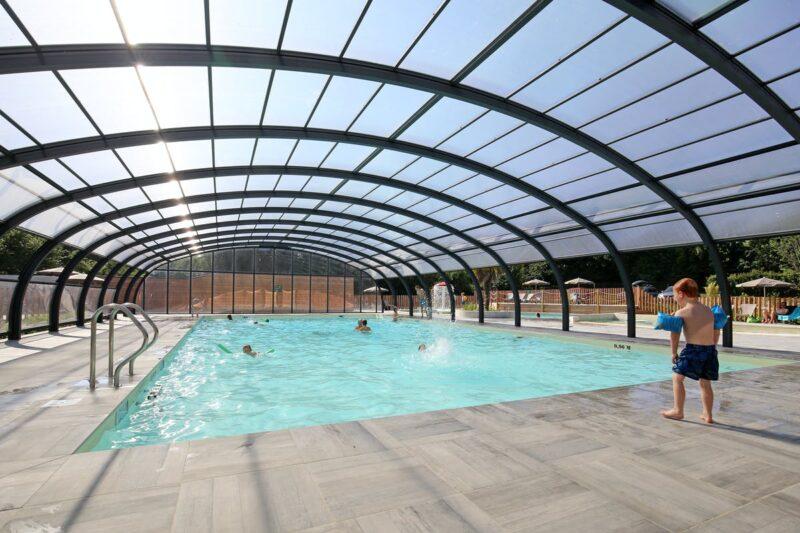 Poolbereich auf dem Campingplatz