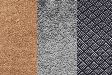 Fußmatten aus Kokosfasern, Baumwolle und Gummi
