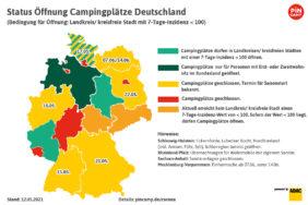 Start der Campingsaison in Deutschland: Hier ist noch etwas frei