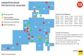 PiNCAMP veröffenlicht aktuelle Grenzöffnungstermine für deutsche Urlauber
